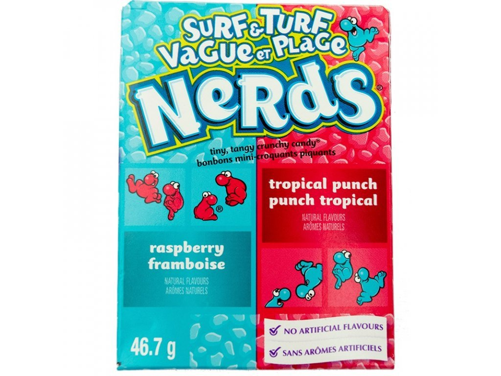 Nerds Tropical Punch & Raspberry 46,7g