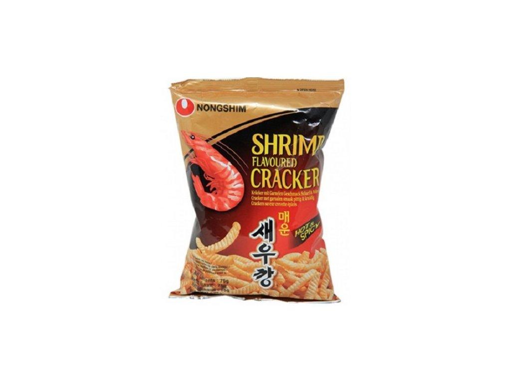 krevetove chipsy s palivym korenim nong shim 75g