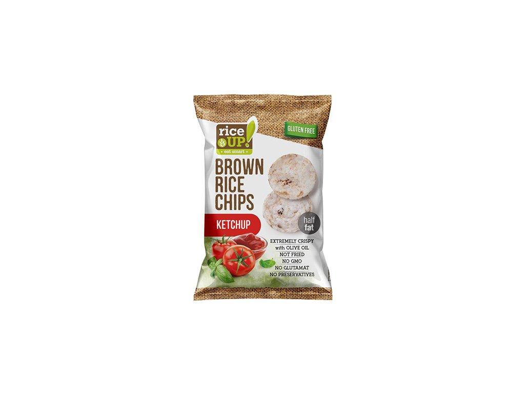 Rice Up! rýžové chipsy Kečup 60g