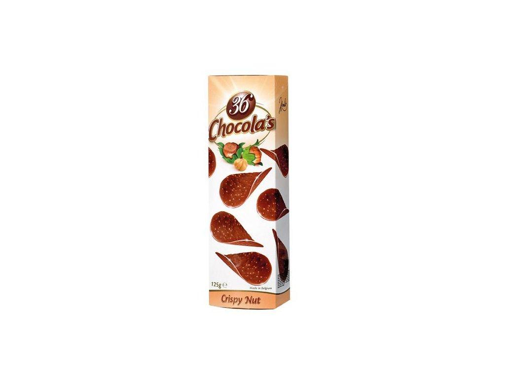 Křupavé čokoládové chipsy oříškové 125g