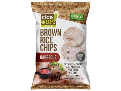 Rice Up! rýžové chipsy Barbecue 60g